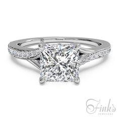 Ritani Platinum Princess Cut Engagement Ring #ItsAFinksDiamond #princesscutring