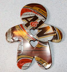 Recycled Soda Can Art  GingerBread Man