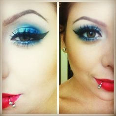 4th of July makeup this is probably the one I'll do all the other ones are so YIKES and harsh but dis! dis I like!