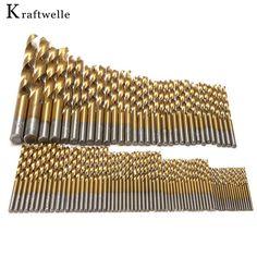99 cái 1.5-10 mét twist khoan bits titanium straight shank điện khoan phụ kiện ferramentas herramientas