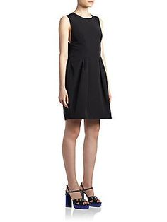 Lanvin Sleeveless Bow-Back Dress - Black - Size