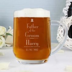 Personalised Father of the Groom Gifts | Personalised Decorative Wedding Father of the Groom Groom | Vivabop