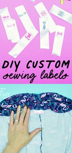 You can make these DIY Custom Sewing Labels (easy). With just a few materials you can make cute washable labels that are the perfect finishing touch to your handmade project. Sewing Hacks, Sewing Crafts, Sewing Projects, Sew Your Own Clothes, Sewing Clothes, Sewing Labels, Party Checklist, Easy Sewing Patterns, Quilting For Beginners