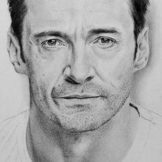 Hugh Jackman Portrait Drawing, Photo to Sketch, Pencil Sketch. Sigmund Freud, Lucian Freud, Photo Sketch, Get Fresh, Hugh Jackman, Portrait Art, Legend Of Zelda, Handmade Art, I Movie
