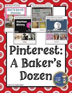 Pinterest: A Baker's Dozen: Boards for Teachers: Pinterest: A Baker's Dozen: Boards for Teachers