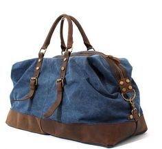 Style Brewing Company - Canvas Weekend Travel Duffel Bag Canvas Leather,  Weekend Trips, Army 41079ca191