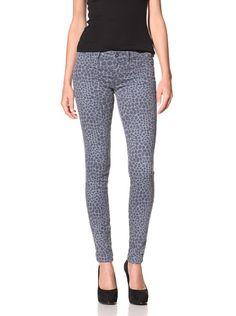 56% OFF Rich & Skinny Women's Giraffe Print Jean (Slate)