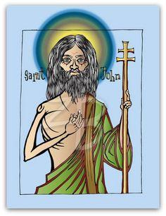 Saint John icon vector graphic