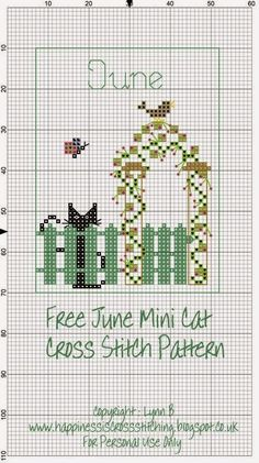 Happiness is Cross Stitching : Mini Cat Cross Stitch Freebies