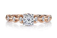 alternative mars engagement ring rose gold 3