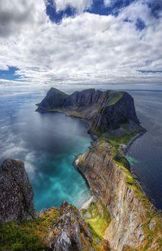 Vaerøy's Mount Mostadfjell Lofoten Islands, Norway