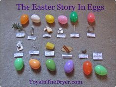Superstars Which Are Helping Individuals Overseas The Easter Story In An Egg Hunt- - Free Printable Toys In The Dryer Easter Hunt, Easter Party, Easter Eggs, Easter Table, Easter Snacks, Easter Dinner, Resurrection Eggs, Diy Ostern, Decoration Originale