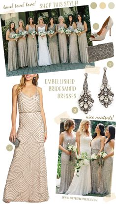 Bridesmaid Dresses You'll Love: Embellished Beauties
