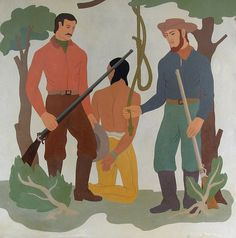 Group Fights To Keep Mural Of Native American Lynching: The battle over traditional symbolism continues.