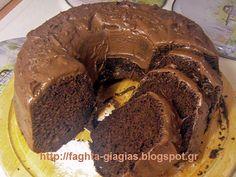 Κέικ σοκολάτας, με επικάλυψη πραλίνας φουντουκιού - από «Τα φαγητά της γιαγιάς»