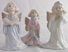 Vintage Russ Porcelain Angels Collectible Angels with Wings by SusieSellsVintage on Etsy