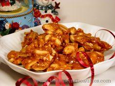Grandma's Peanut Brittle Recipe Desserts with peanuts, granulated sugar, salt, baking soda, vanilla extract