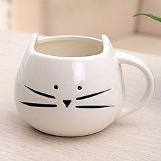 1 PCS Jus De Café Porcelaine Thé Tasse Chat Lait Animal Tasse En Céramique Amateurs Tasse Mignon cadeau D'anniversaire, Cadeau De Noël (blanc/Noir) dans tasses de Maison & Jardin sur AliExpress.com | Alibaba Group