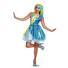 577e09d125c Disguise Women s Plus Size Rainbow Dash Movie Deluxe Adult Costume