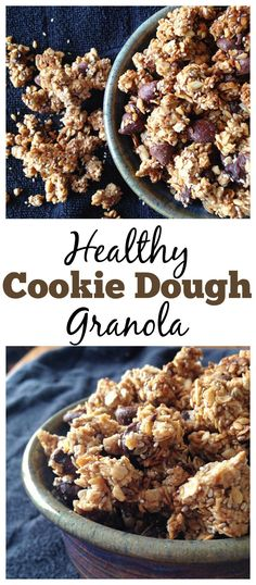 Looking for a healthy breakfast that will satisfy your sweet tooth? Make this easy-to-make Chocolate Chip Cookie Dough Granola!