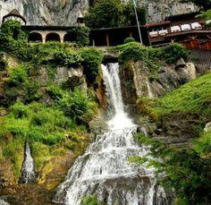 Waterfall house, Switzerland