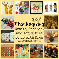 50+ Thanksgiving Crafts, Recipes, & Activities to Do WIth Kids