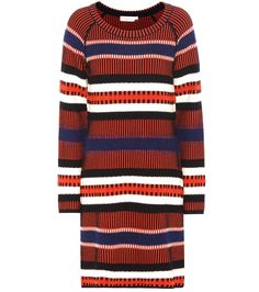 Tory Burch - Monterey knitted sweater dress - Tory Burch makes fall-ready style effortlessly chic with the Monterey dress. Knitted from a wool blend, the colourful design features varied stripes to give the relaxed-fit design a pop of statement appeal. Opt for a layered look by styling yours over a turtleneck. seen @ www.mytheresa.com