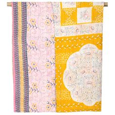Kantha Quilted Throw - Lacy Lu