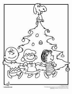 0f995ed44c A Charlie Brown Christmas Coloring Pages Charlie Brown Christmas Tree  Coloring Page with Snoopy