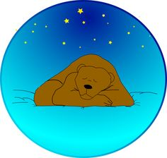 Bear-sleeping – Big Tree School of Natural Healing Cool Clipart, Star Clipart, Sleeping Under The Stars, Woodland Forest, Water Element, Printable Crafts, Bear Art, Big Tree, Forest Animals