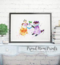 Meeko, Percy, Pocahontas, Pocahontas Wall Art, Pocahontas Nursery
