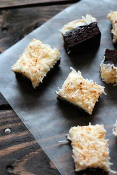Toasted Coconut Frosted Brownies