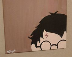 Painting Ideas On Canvas Easy Harry Potter 49 Trendy Ideas Small Canvas Paintings, Small Canvas Art, Easy Canvas Painting, Mini Canvas Art, Harry Potter Canvas, Harry Potter Painting, Theme Harry Potter, Harry Potter Drawings Easy, Cartoon Painting