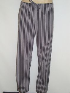 Calvin Klein Lounge Pant Woven Gray Stripe Mens Small Large NEW 100% Cotton S L  #CalvinKlein #LoungePants ebay item 400810020046