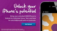 Get Unlimited Calls, text, and data 4G for your #Iphone for only 49 per month. Solavei is amazing.