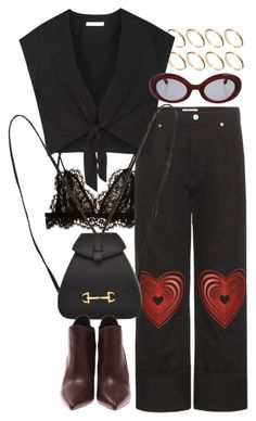 """""""Untitled #10458"""" by nikka-phillips ❤ liked on Polyvore featuring Isabel Marant, ASOS, Christopher Kane, Alice + Olivia, Chopard, Gucci and Yves Saint Laurent"""