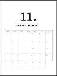 14 Best November 2019 Calendars Images On Pinterest In 2019