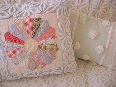 Vintage Chenille and Dresden Plate Quilt Block 16 by TWFaith on Etsy.