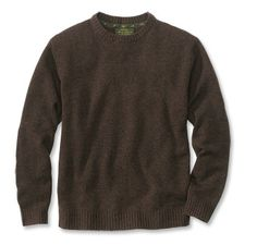 Wool/Cashmere Notched-Crewneck Sweater from Orvis.