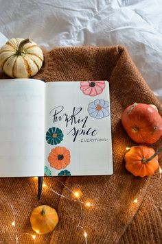 The best of seasons's back and it's time for my November Bullet Journal layout - are you ready for a warm and cozy Pumpkin Bujo Setup? Autumn Bullet Journal, Bullet Journal Quotes, Bullet Journal Inspo, Bullet Journal Layout, Spice Things Up, Things To Come, Pastel Colors, Colours, Pumpkin Pictures
