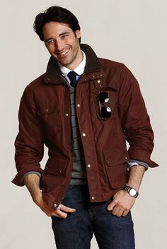 Lands' End Canvas F/W 2011 New Arrivals: Oil Cloth Jacket in Burnt Ochre