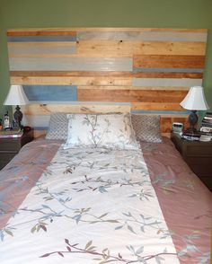 DIY Faux Pallet Wood Headboard | Bright Forest: DIY Faux Pallet Wood Headboard