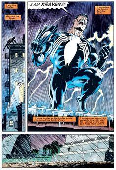 "Kraven proving himself as Spider-Man's ""superior"" during ""Kraven's Last Hunt"" Stan Lee Spiderman, What Makes A Hero, Marvel Secret Wars, Kraven The Hunter, Greatest Villains, Amazing Spiderman, Marvel Characters, Marvel Dc, Marvel Comics"