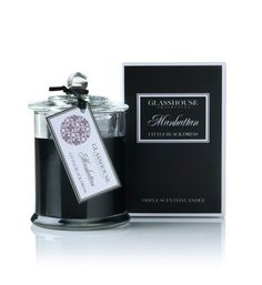Manhattan LITTLE BLACK DRESS  Sassy from the moment you strike a light, with a big city flavour, I'll take Manhattan, with perfumes of Orchids, Rose, Musk and Blood Orange for an irresistible air of confidence. Although compact, Glasshouse Miniature Candles offer a fragrance experience as generous as the larger candles. Up to 20 hours of burn time.