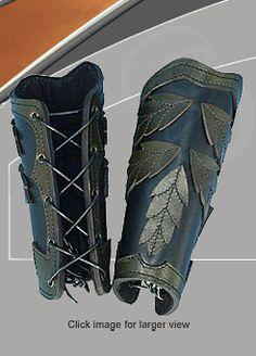 Elven Leaf Arm Bracers are Great for LARP and Theater use. Fantasy Armor, Medieval Fantasy, Larp, Elf Kostüm, Steampunk, Leather Bracers, Grandeur Nature, Armadura Medieval, Cosplay Tutorial