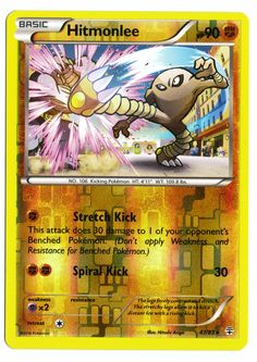 Rare Hitmonlee reverse holographic card, in near mint condition! Comes with a soft plastic protective cover. Ships with tracking. Cards weigh almost nothing - buy lots and pay just $2.60 shipping to t