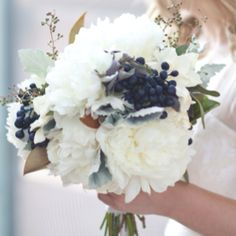 Bouquet inspiration...with gold sprigs and no greenery. Maybe make it more full with white hydrangeas.