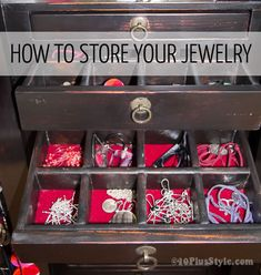 How to store jewelry – lots of jewelry storage ideas to keep you organised!