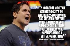 Oh yes Marc Cuban, self made man