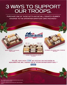 Hickory Farms supports the troops!